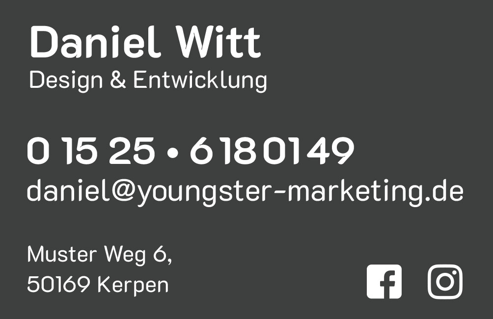Youngster Marketing VIsitenkarte Seite 2